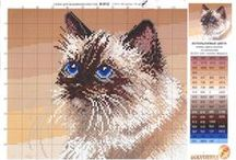 """вышивка """"кошки"""" / схемы вышивки крестиком"""