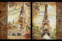 """вышивка """"Европа"""" / схемы для вышивки городов Европы"""