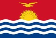 ✧ Kiribati ✧ / Kiribati, officially the Republic of Kiribati (Gilbertese: Ribaberiki Kiribati), is an island nation in the central Pacific Ocean. The nation comprises 33 atolls and reef islands and one raised coral island, Banaba. Capital: Tarawa