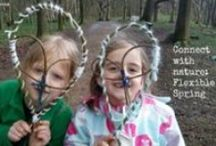 Connecting with Nature: Flexible Spring / Forest school and outdoor ideas for getting hands-on with flexible materials in April
