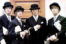 "The Beatles / The Fab Four. John, Paul, George, & Ringo. The Beatles are the most iconic and talented band in history. Their music is timeless. My parents had their records, I had their tapes, my daughter's have their cd's. Their contribution to rock and roll can not even be described...they were destined to become cultural icons. It was the talent. The hair. The personalities. Their charm. But mostly, it was the music. It transcends time. ""Let It Be""....""Yesterday""...""Black Bird""..and Paul is my fave :) / by Christie Marie Jones"
