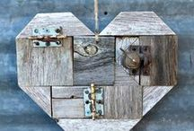 ♥ Hearts ♥ / All kinds of decorative hearts, made from fabric, lace, cardboard, paper, metal, wood etc.