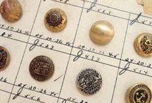 Sew Vintage / Vintage scissors, wooden spools, buttons, pincushions, thimbles, lace, trims and more