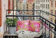 Balcony / Decoration Ideas for our small sunny places outside