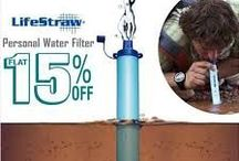 Lifestraw /  #LifeStraw is an Award Winning Product, which makes anybody who has used it even once fall in love with the small and portable device. What it does is something almost equivalent to #magic. It contains no chemicals or iodinated resin, no batteries and no moving parts to break or wear out. It features a high flow rate and weighs only 2oz.  Life Straw is perfect for the ultra-light backpacker, traveler, boy scout, hunter, and especially for emergency preparedness.And carried easily.