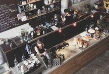 Cafe love! ☕️ / I Adore cute cafés! :)
