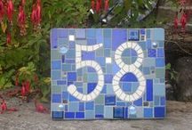 mosaic house numbers / I love making mosaic house numbers; here are some made by me and some made by others.