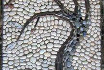 Mosaicos. Pebble Mosaics / by marta