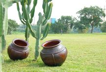 Outdoor + Garden / Eclectic modern global style for your gardens and outdoor spaces. Clay pottery, unique wovenware and other one-of-a-kind finds. Each piece is handmade in Africa.