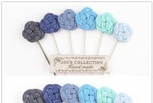 Jin's boutonniere / Handmade lapel pins only at Jin's