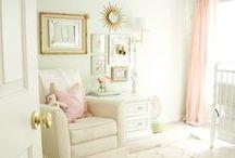 Nursery / Beautiful baby nursery ideas ~ textiles, frames, furniture.