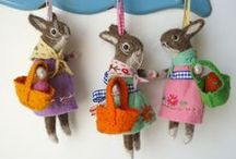 Pasqua / templates, ricami, coniglietti, banner, lavoretti per bambini, cards, bigliettini, decorazioni per la tavola
