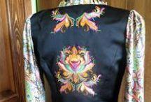 Haftowane inspiracje - embroidery inspirations / haftowane sukienki, ubrania z haftem, wyszywane rzeczy. embroidered fashion, embellished dresses, stitched clothes,