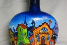 Reciclando a vida / reciclando garrafas, vidro, produzindo arte através da reciclagem