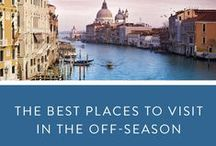The Best Off Season Travel Spots with Kids / Where to go during the off season? Perfect off season trips for families with small children.