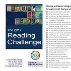 2017 Reading Challege / Find your favorite bookmark, your handy reading lamp, select your cozy reading nook, because the 2017 Corona Public Library Reading Challenge has been released! The reading challenge is sponsored by The Friends of the Corona Public Library and will include monthly prizes.… everyone will want to win!