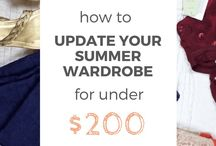 Frugal Fashion / Here are tips for finding cheap clothes and ideas for upcycling what you already own!