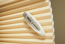 Child Safety Blinds/Shades & Power/Remote Blinds by Hunter Douglas / Child safety comes with lite rise, power shades. By using blinds/shades powered by a remote, shades are operated by a remote, no dangling strings! So many colors and fabrics to choose your blinds, in Milton too!