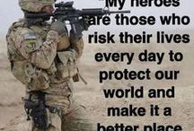 My Hero / Real heroes don't have a name on the back of their jerseys. They have their country's flag on the arm of a uniform. Thank you for our freedom. / by Shirley Zuroff