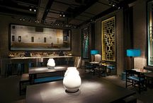 Restaurant interiors / Asian/Eastern/Moroccan Inspiration....