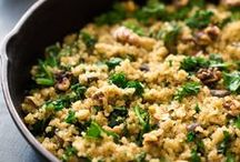 quinoa love / I love quinoa! These vegan and vegetarian recipes all feature the diverse seed that quinoa is, from sweet to savoury.