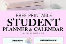 Student Binders and Printables / A wide collection of printable organizers, planners and printables for students and teachers! Print, share and enjoy them!