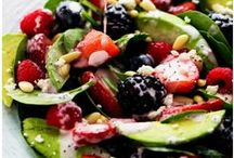 Healthy Salad Recipes / I love my daily big bowl of salad. One healthy meal gets you all the daily vitamins and fiber you need to stay fit and healthy. These recipes are delicious and will fill you up, helping you living lean!