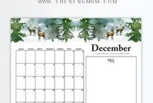Free Printable 2017 Calendars by Shining Mom Blog / Beautifully crafted free printable 2017 calendars and planners by Shining Mom Blog to help you design a life you love!  #2017freecalendar #free2017calendar