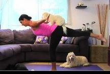 """Dog Yoga - Doga! / """"Doga combines massage and meditation with gentle stretching for dogs and their human partners. Dogs are incorporated into yoga practice in different ways, depending on their size and personality. Smaller dogs can be used as weights to add resistance training. Larger dogs can be trained to perform their own yoga poses, including, yes - downward facing dog! Many classes end with meditation, as humans and dogs stare deeply into each others' eyes.""""   by Deanna Lang,  examiner.com"""