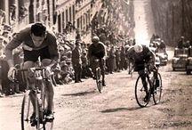 Vintage foto's fietsen