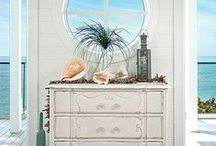 Coastal Living | Beach Casual / We love distressed wood and shabby chic. What's your favorite home accessory? Tabletop accessories? Wood framed mirrors? Flowers?