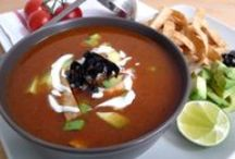 Soups / Starters / Mexican Food. Recipes on website along with the ingredients you need to make them.