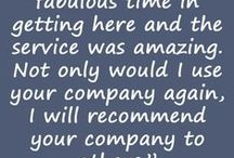 What people say about us.... / Some comments from people we have worked with.