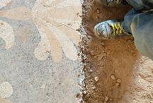 Ancient terrazzo floor