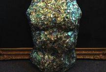 Shar De Razes / Paua shell original art,sculpture, wearable art