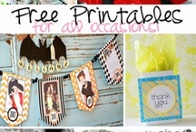 Printables / Printable's for everything to labels, planners and much more