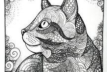 KC doodle art Zentangles