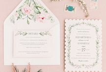 Invitations / Printed wedding invites, custom calligraphy invitation suites, and DIY projects