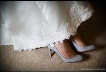 Brides Shoes / Photographs of brides shoes on her wedding day by Wedding Photographer Paul Rogers