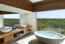 Bathroom Oasis / We believe in having a place away from the rest of the house where we can use as a sanctuary when doing or nightly or morning routines in here are some great ideas! / by Michael Todd