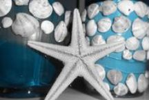 ~ beautiful glass candles ~ / ideas for unique handmade candles, shell art, photography