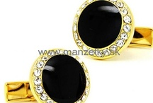 Gold coloured cufflinks / We offer classic, novelty and luxurious cufflinks. You will get the finest quality for a reasonable price at www.manzetky.sk