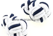 Silk knot cufflinks / We offer classic, novelty and luxurious cufflinks. You will get the finest quality for a reasonable price at www.manzetky.sk
