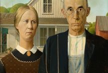 American Gothic / 1930 Oil Painting by Grant Wood and inspired reworks