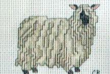 """Embroidery cross SHEEP"""