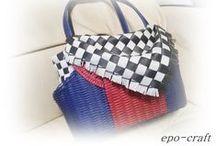 craft  作品 / epo-craftオリジナル、紙バンドで作ったバッグ・雑貨たちです。