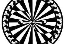 Black & White Mandalas. / Mandalas made with Indian ink.