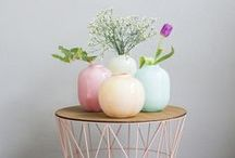 Trending || Pastel Palette / Not so subtle, but oh so stylish, this season's pastel colours are a playful way to add BOLD to your next interior look. The Littlewhy and Gig lamps are available in three on trend pastels: Buttercup, Coral and Mint. They're so sweet you'll get a toothache!