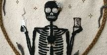 Embroidery Weird Skeletons