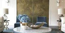 Glam / transitional interiors